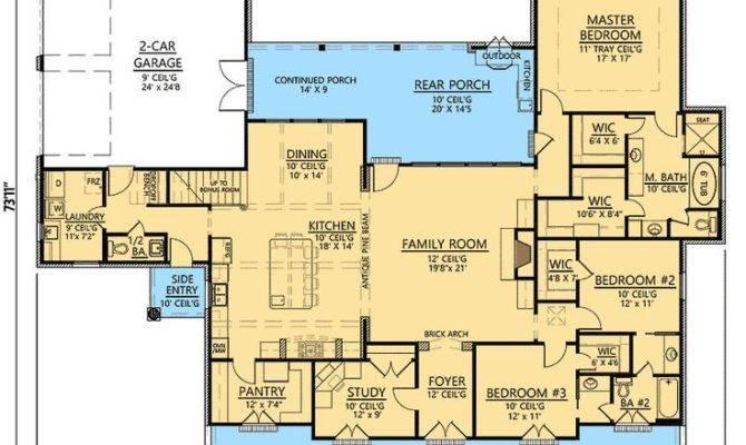 Plan Bedroom Acadian Home Bonus Rooms