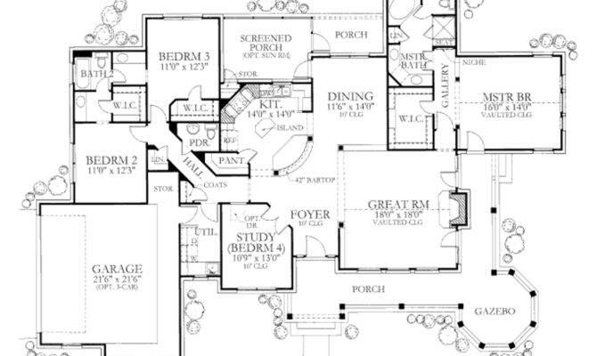 Plan Bedroom Bath Storybook Craftsman Design