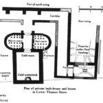 Plan Billingsgate House Baths Showing Heated Rooms