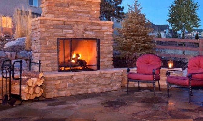 Plan Building Outdoor Fireplace Design