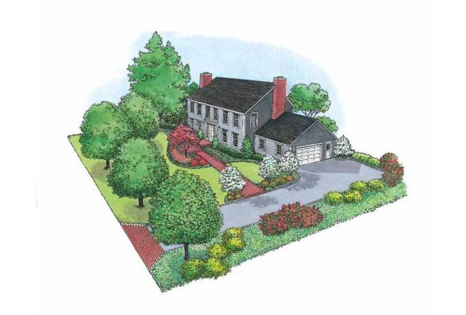 Plan Center Hall Colonial Style Landscape Eplans House