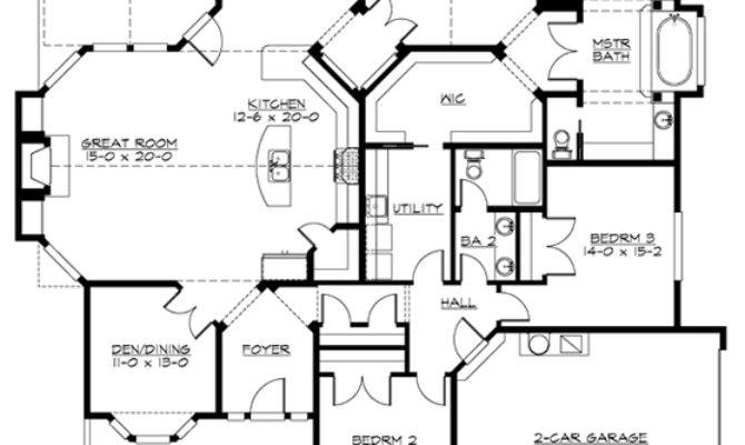 Plan Corner Lot Northwest Craftsman House