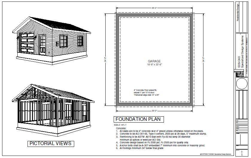 Plan Custom Garage Blueprint