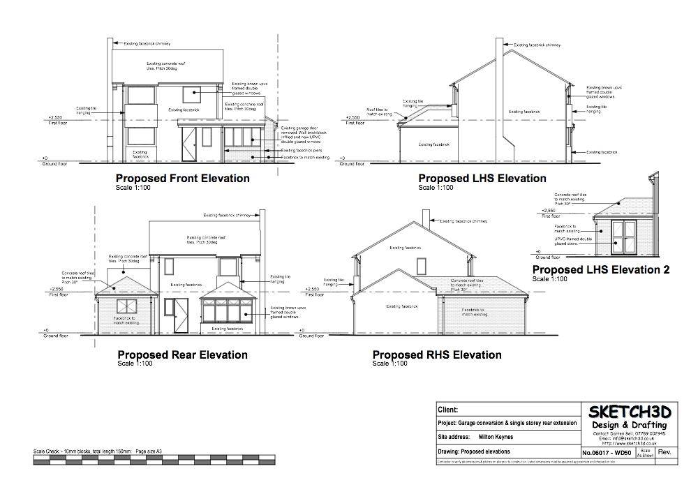 Plan Existing Floor Elevations Proposed