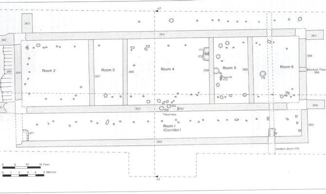 Plan Feltwell Roman Villa