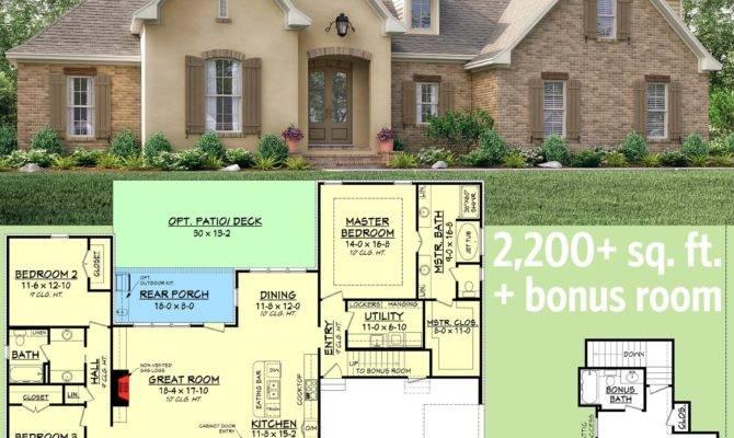 Plan Flexible Southern Home Bonus Room