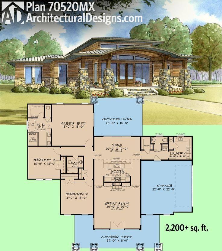 Plan Modern Home Wrap Around Porch