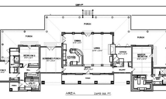 Plan Modern Ranch Floor San