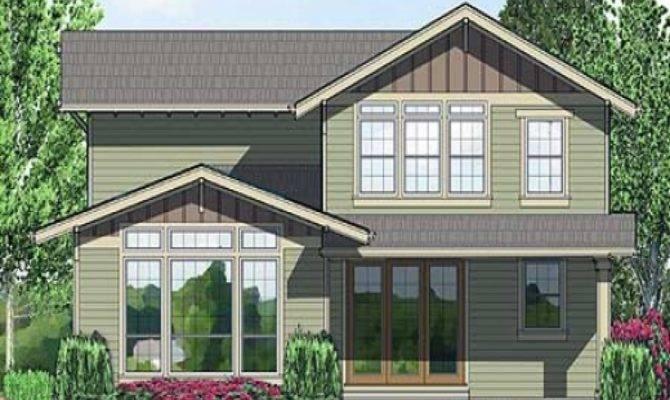 Plan Northwest Narrow Lot Craftsman House Plans