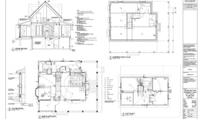Plan Section Elevation Residential Building House