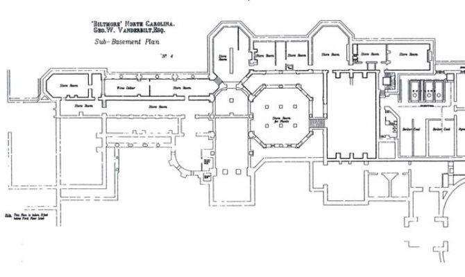 Plan Sub Basement Floor Biltmore House Plans City