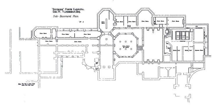 Plan Sub Basement Floor Biltmore House Plans City