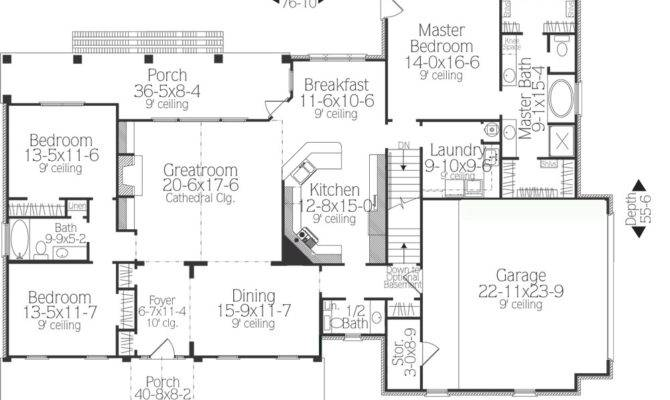 Plan Take Look Popular Country Ranch House