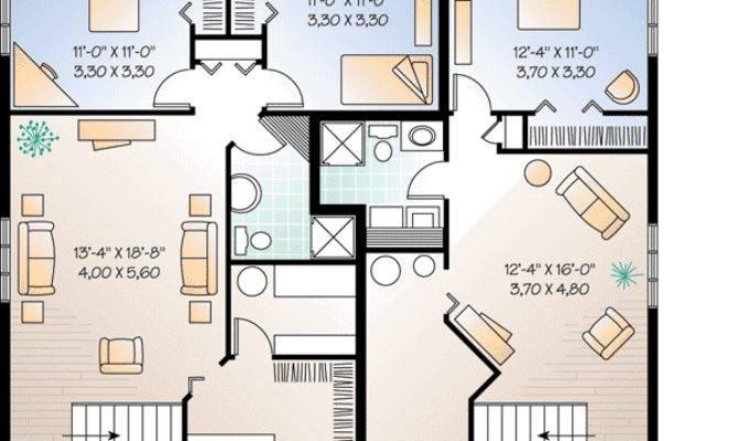 Plan Three Unit Apartment House