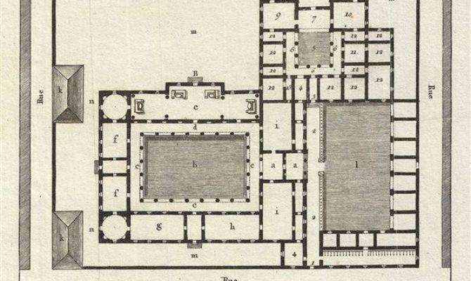 Plan Une Maison Grecque Apres Vitruve Geographicus