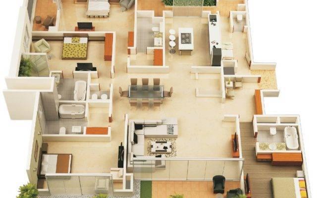 Planos Para Apartamentos Con Habitaciones