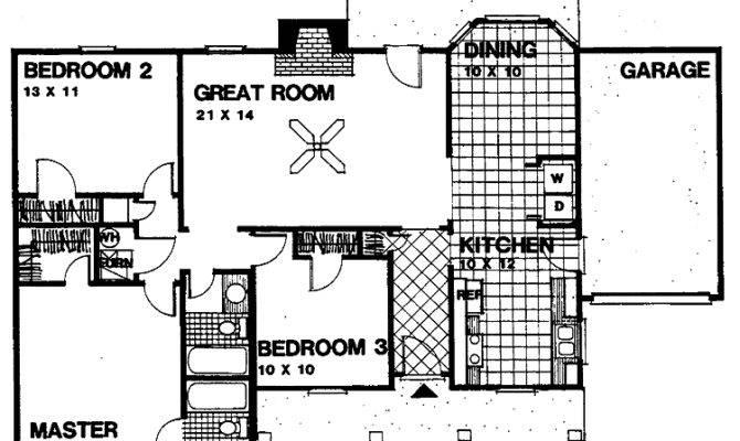 Plans Bedroom House Floor Bath Open Plan