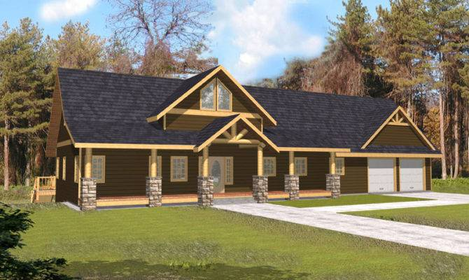 Plans Craftsman House Log Cabin Rustic Home