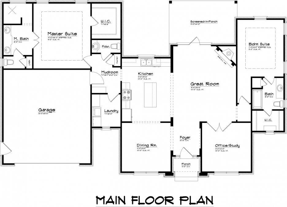 Plans Measurements Floor Modern Bedroom Basic Plan