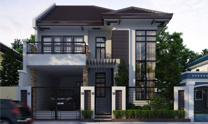 Plans One Floor Modern Houses House Design