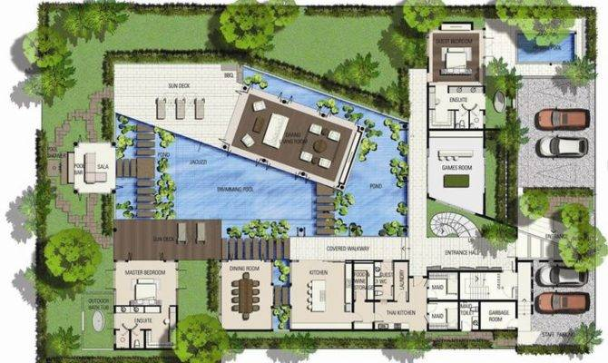 Plans Saisawan Beach Villas Type Ground Floor Plan