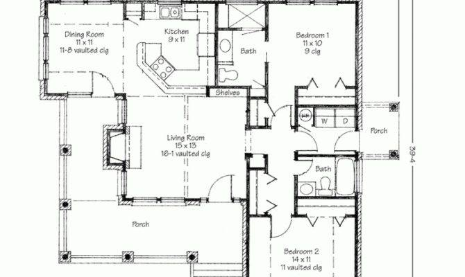 Plans Small Home Contemporary Two Bedroom House Porch