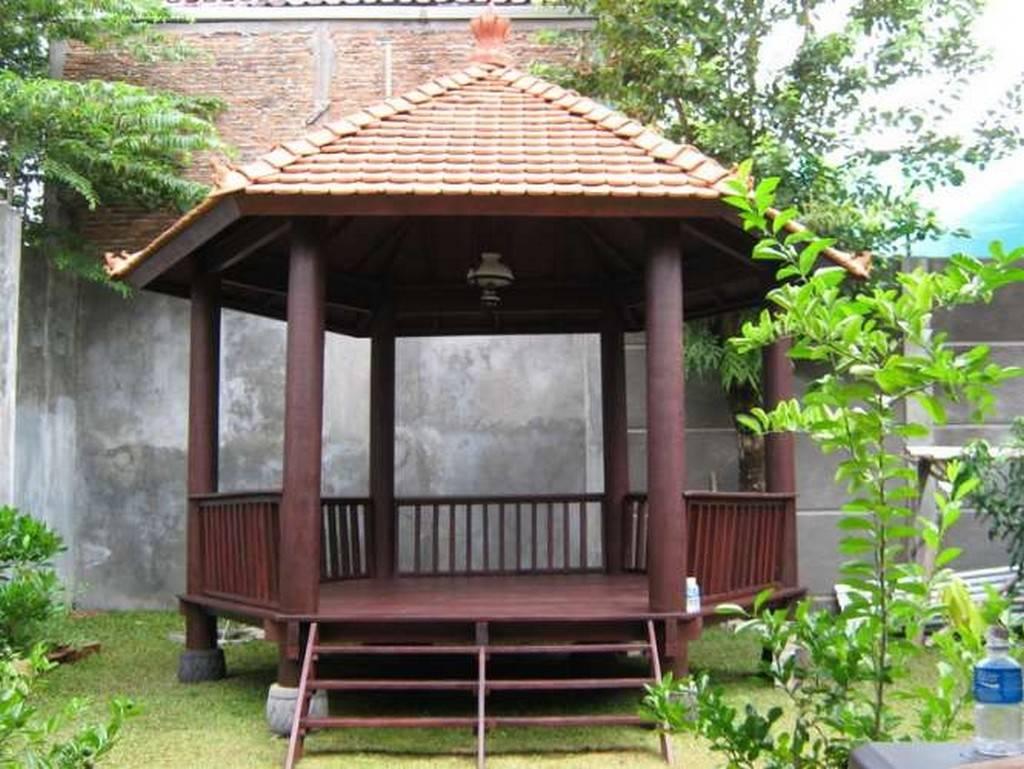 Plans Wooden Gazebo Side Roof Tile Nytexas