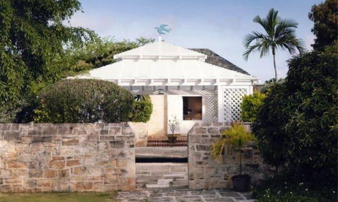Plantation Style House Stone Garden Wall Design Olpos