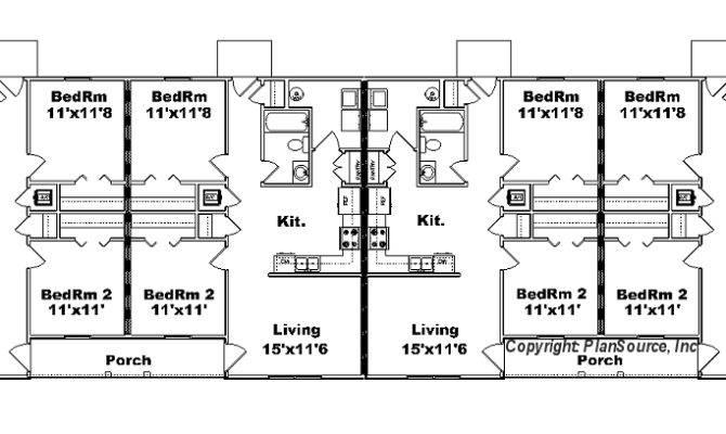 Plex Apartment Plan Plansource Inc Building Plans