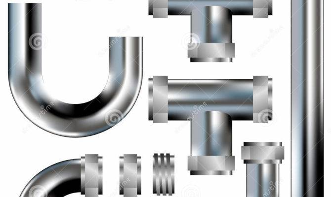 Plumbing Pipes Vector Illustration Sink Home