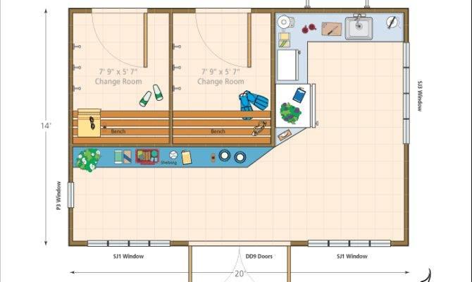 Pool Cabana Floor Plans