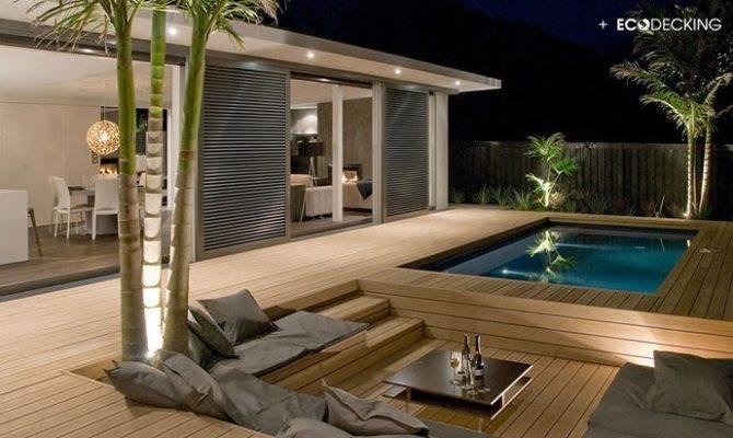 Pool Deck Composite Decking Design Ideas Examples Materials