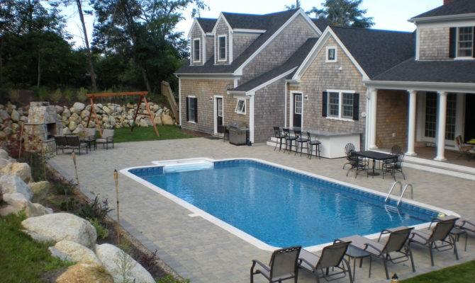Pool Enchanting Back Decks Designs Backyard Pools Design Feature Grey