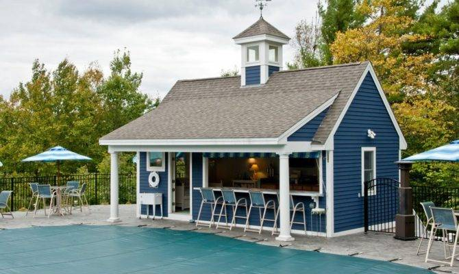 Pool House Bar Patio Traditional Trees Arched Pergolas