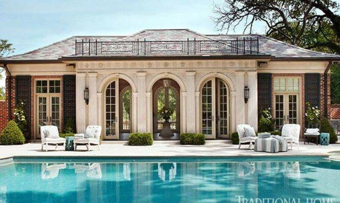 Pool House Classic Architecture Traditional Home