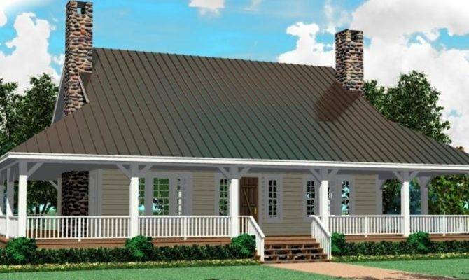 Porch Deep Wrap Around House Plans Home
