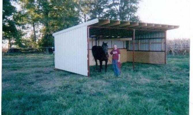Portable Barn Open Shelter Frame Pole Kit Run