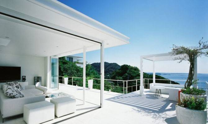 Post Title Modern White Sea House Design Ideas