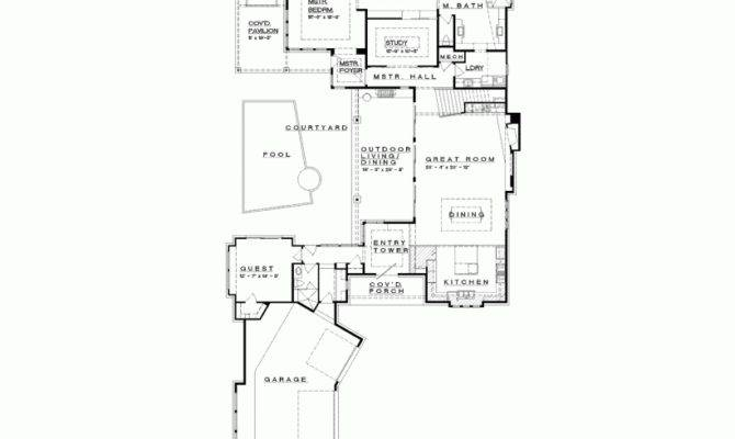 Prairie House Plan Hill Country Neo Style Shaped Home