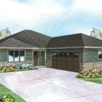 Prairie Style House Plan Denver Front Plans