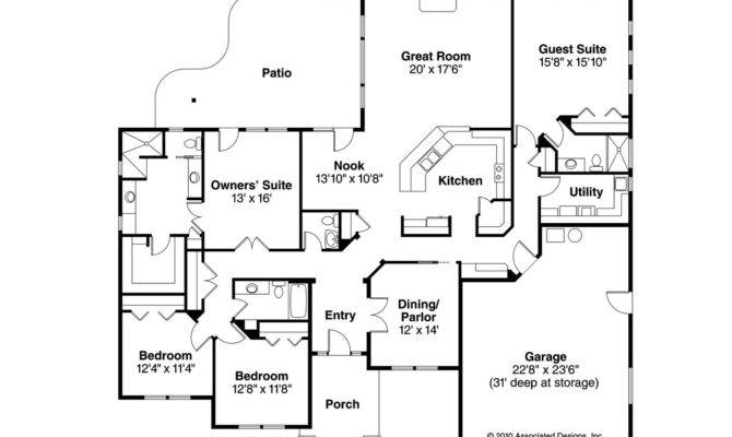 Prairie Style House Plans Crownpoint Associated Designs