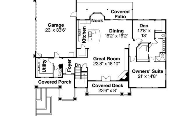 Prairie Style House Plans Northshire Associated Designs