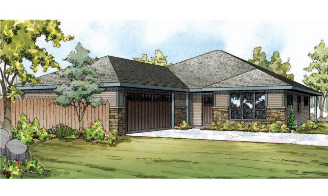 Prairie Style House Plans Oakdale Associated Designs