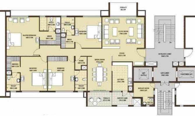 Presidential Tower Floor Plan Bhk