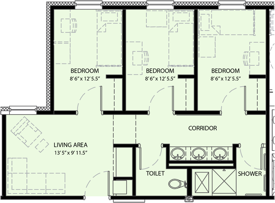 Pricing Floor Plan University Commons Housing