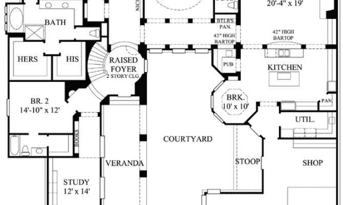 Private Interior Courtyard Architectural