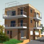 Project Three Storey Residential Building Made Architects