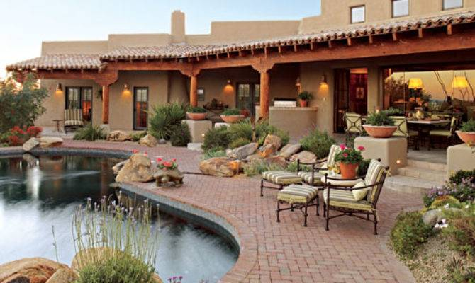 Pueblo Style Home Traditional Southwestern Design