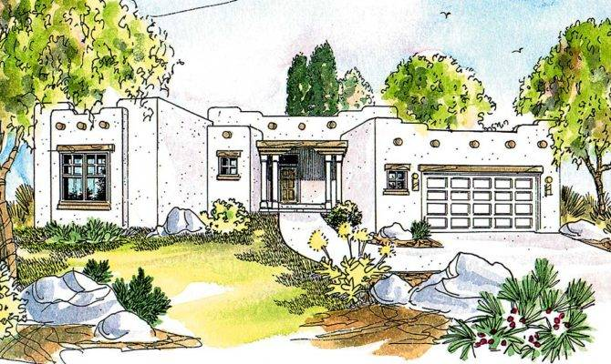 Pueblo Style House Plan Architectural Designs