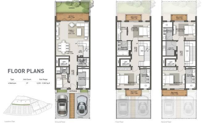 Quad Homes Sobha Hartland Floor Plans Dubai Off Plan